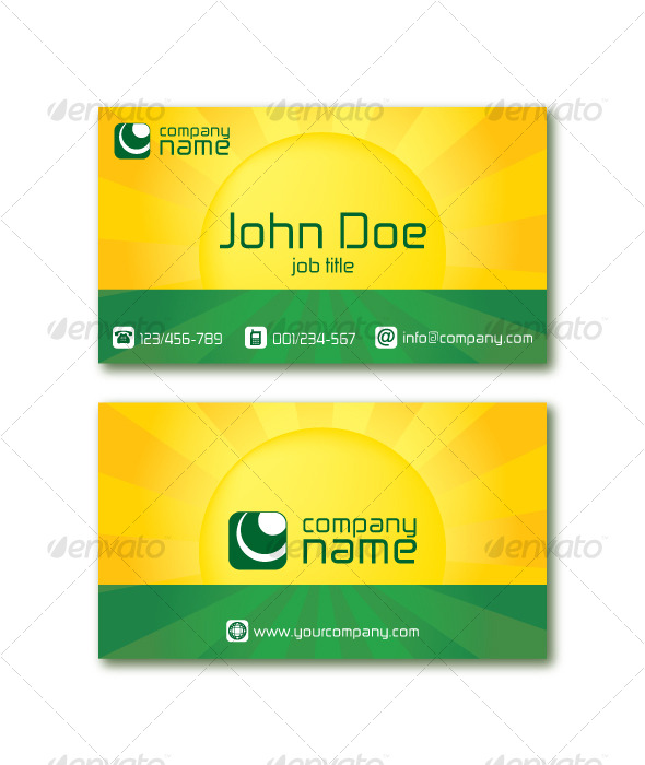 Sunshine Business Card - Corporate Business Cards