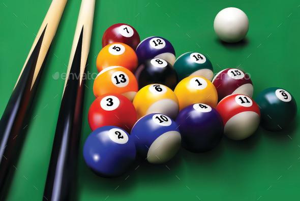 Billiards - Sports/Activity Conceptual