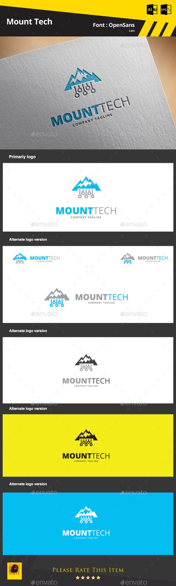 Mount Tech  Logo Template - Symbols Logo Templates