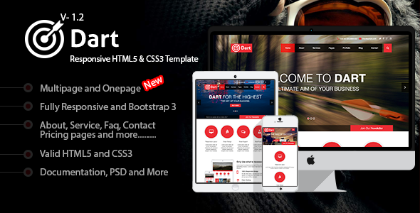 Dart – Responsive HTML5 Business Template