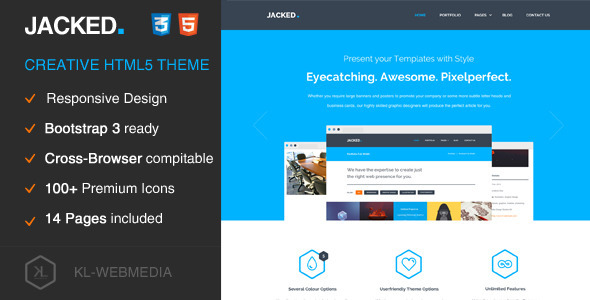 Jacked – Creative HTML5 Template