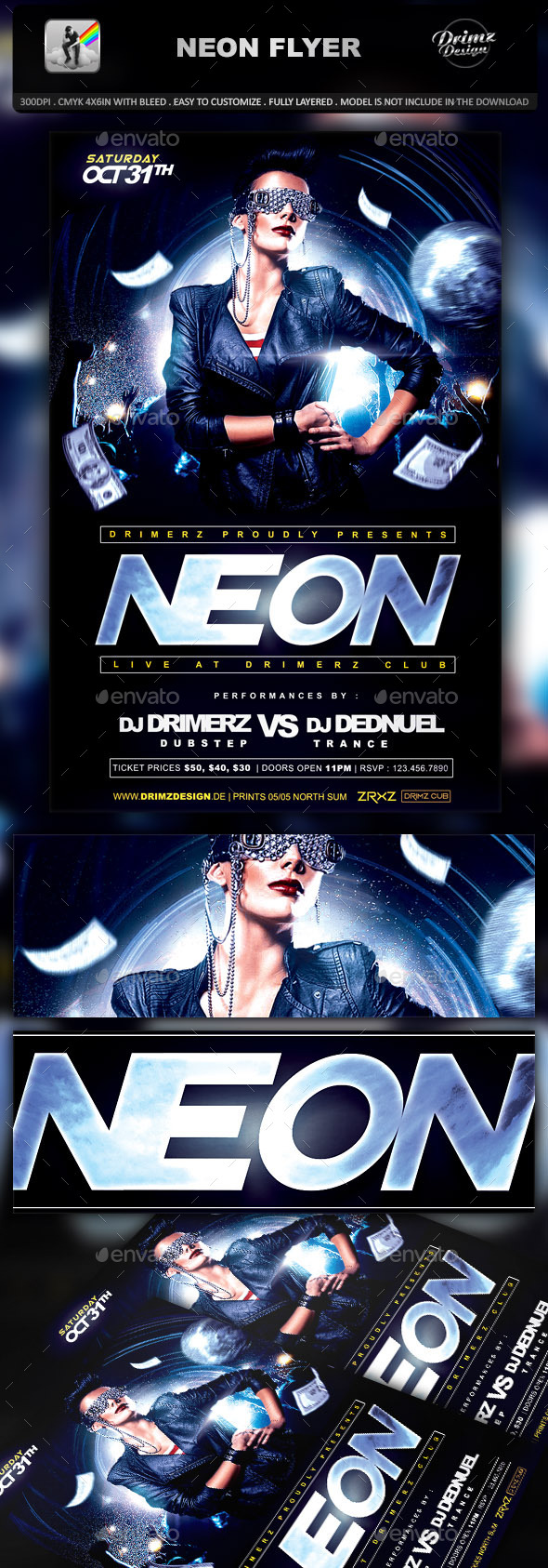 Neon Flyer - Events Flyers
