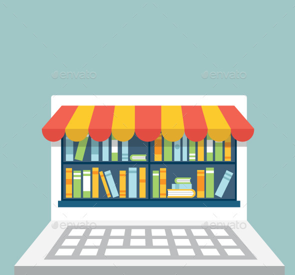 Library in Laptop - Services Commercial / Shopping