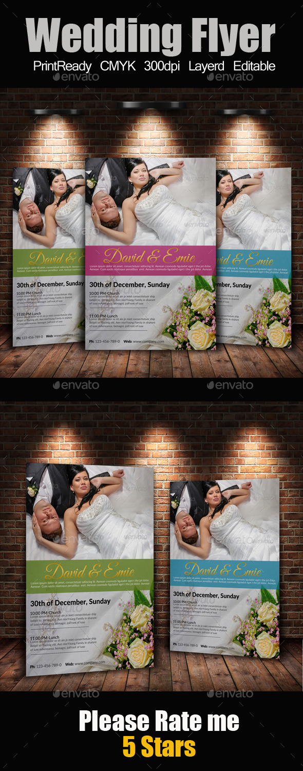 A4 Wedding Flyer - Events Flyers