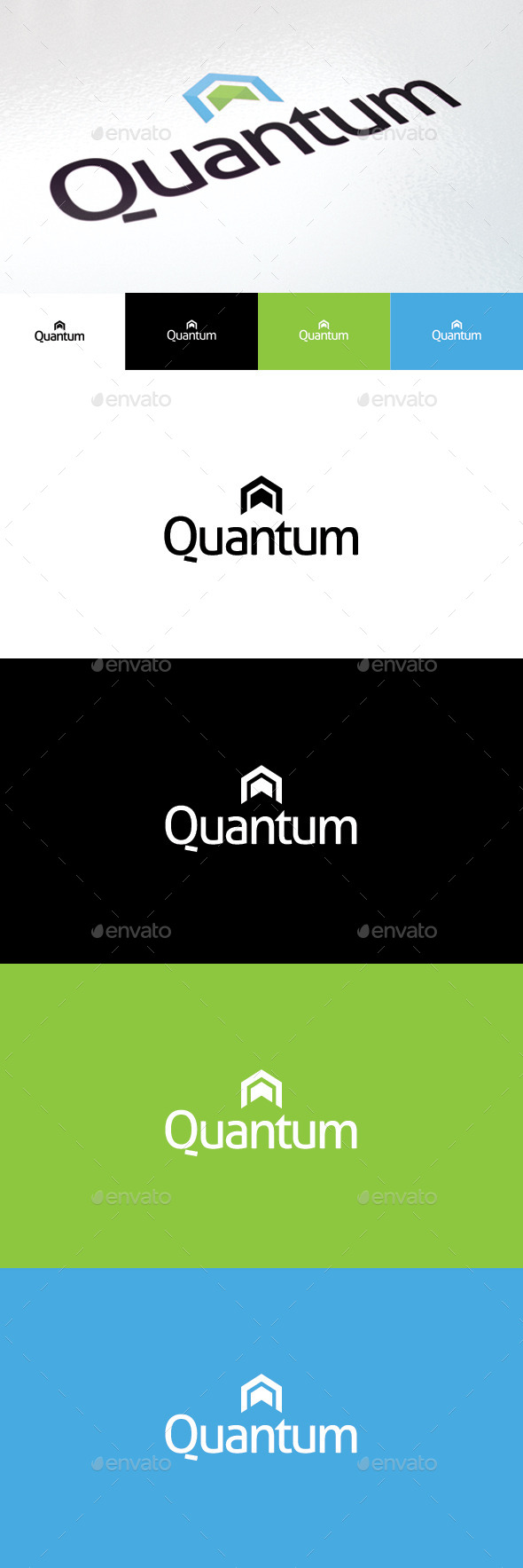 Quantum Logo - Vector Abstract