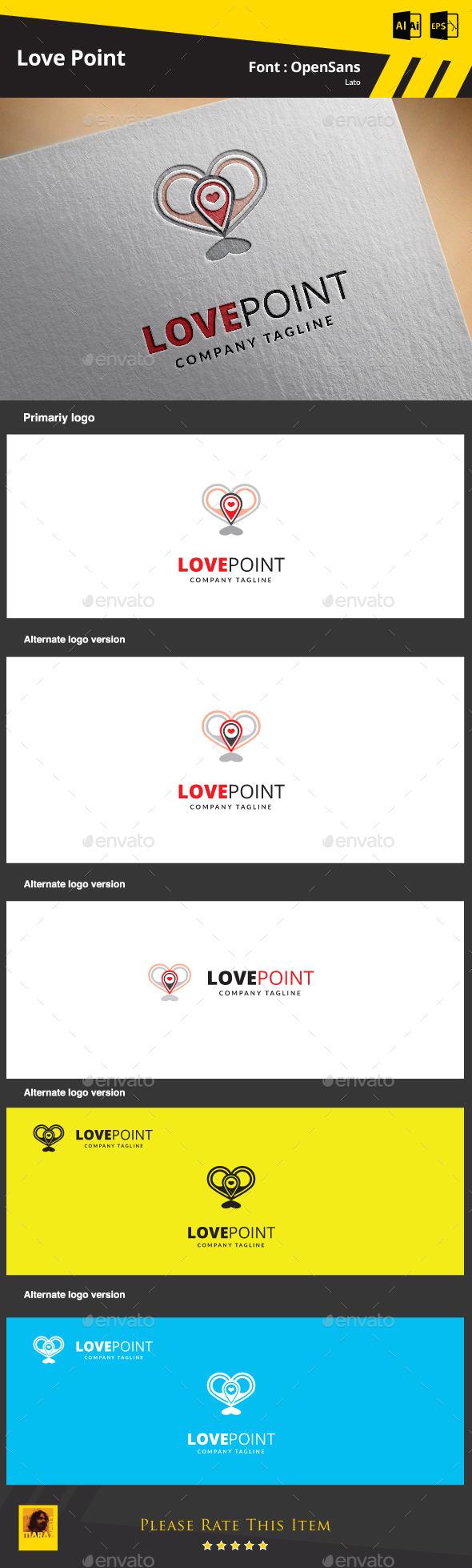 Love point  Logo Template - Symbols Logo Templates
