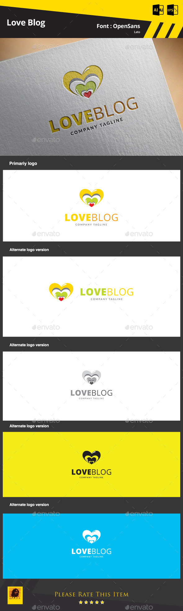 Love Blog  Logo Template - Symbols Logo Templates