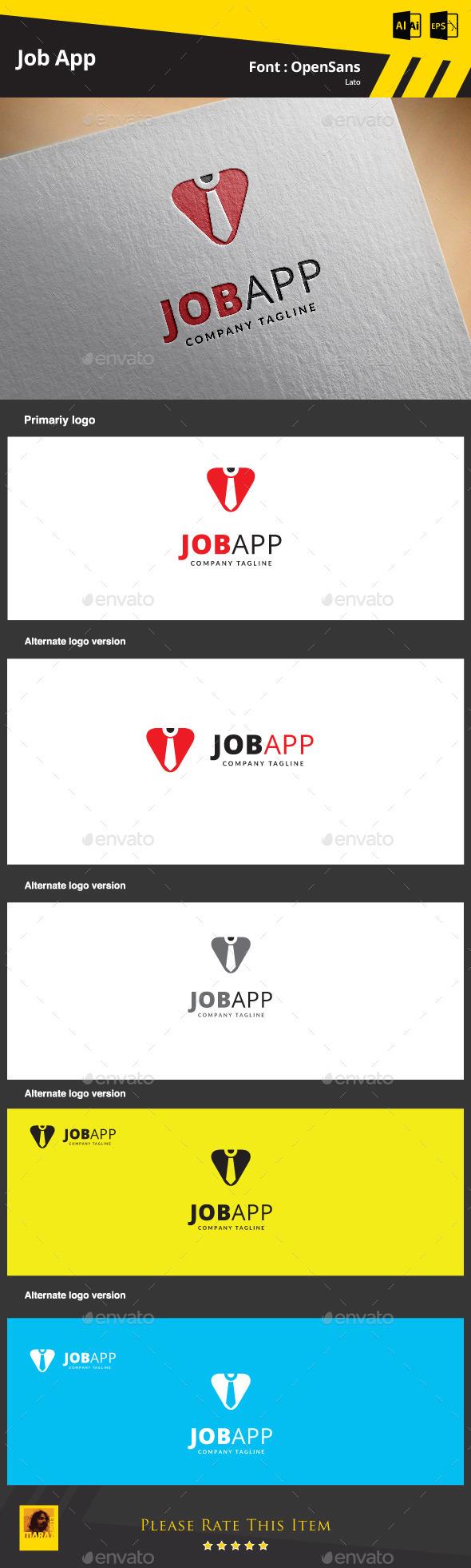 Job App Logo Template - Symbols Logo Templates