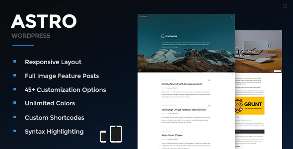 Astro – Responsive WordPress Blog Theme