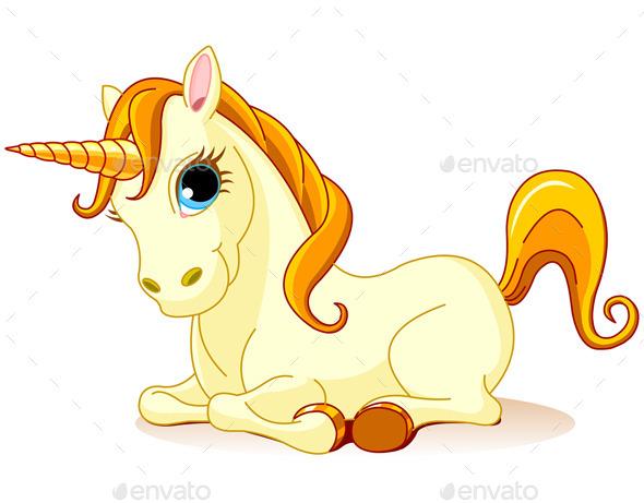 Golden Unicorn - Animals Characters