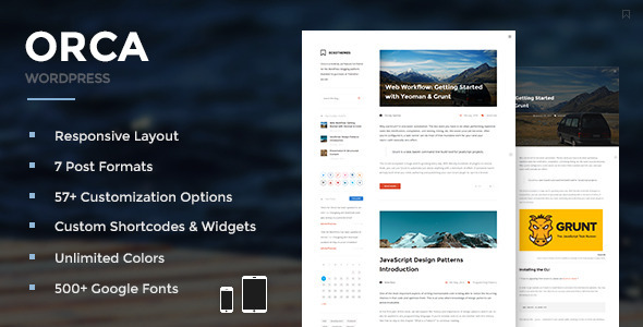 Orca - Responsive WordPress Blog Theme