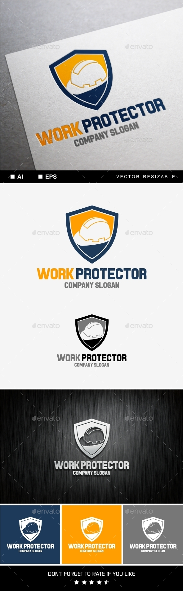 Work Protector - Objects Logo Templates