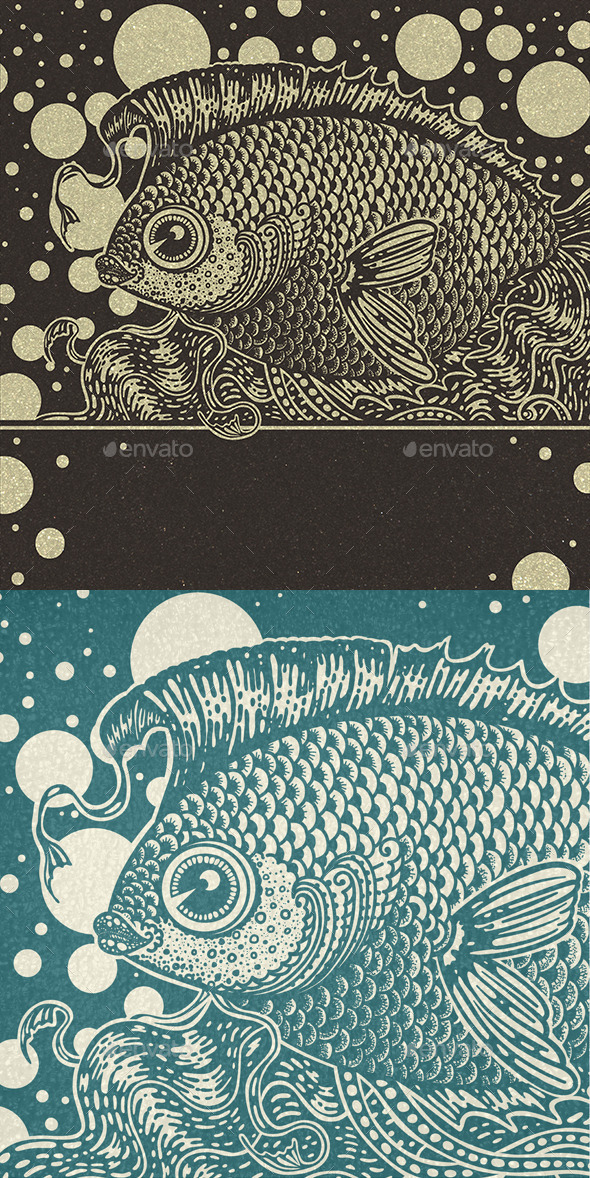 Vintage Fish - Animals Characters