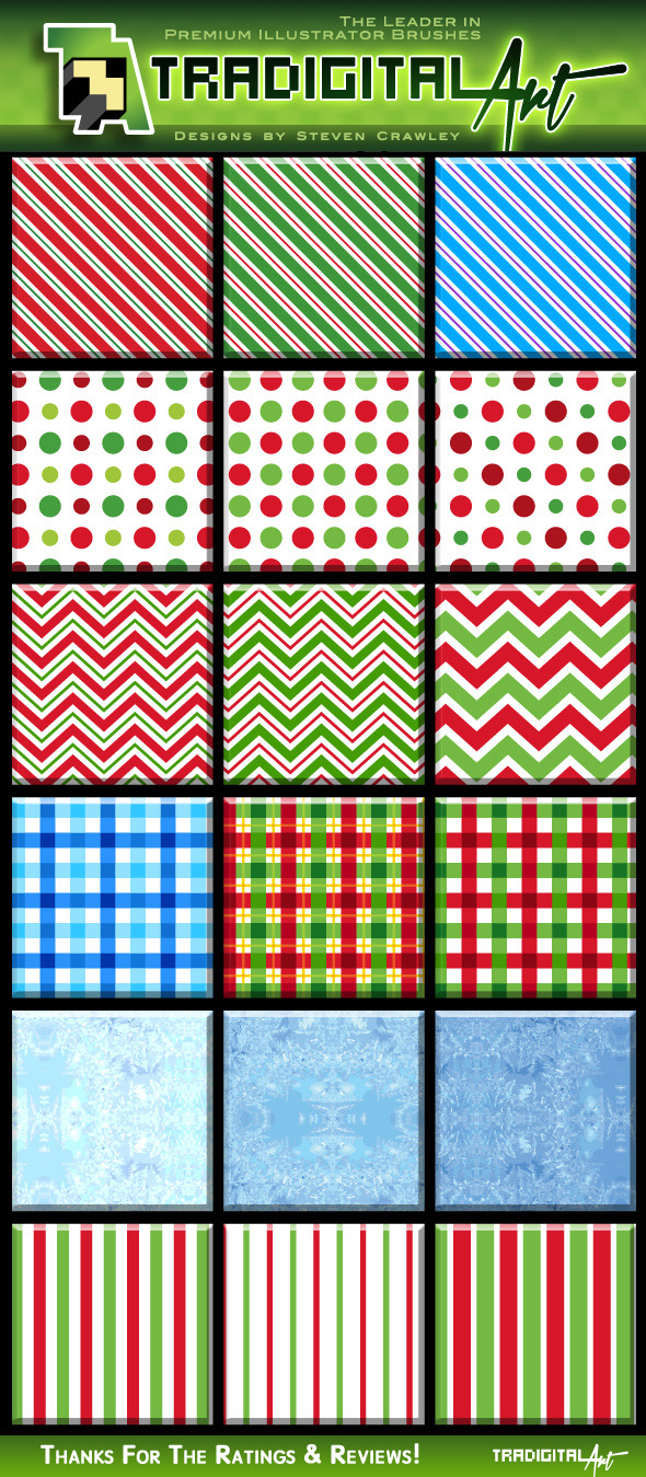 Christmas Pattern Swatches - Miscellaneous Textures / Fills / Patterns