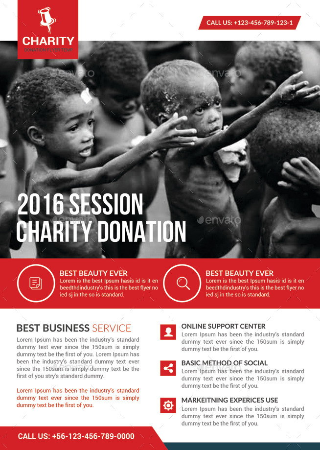 charity donation flyer template by graphicforestnet