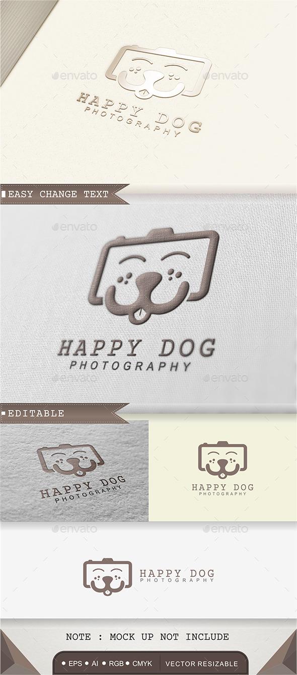 Happy Dog - Photography Logo - Animals Logo Templates