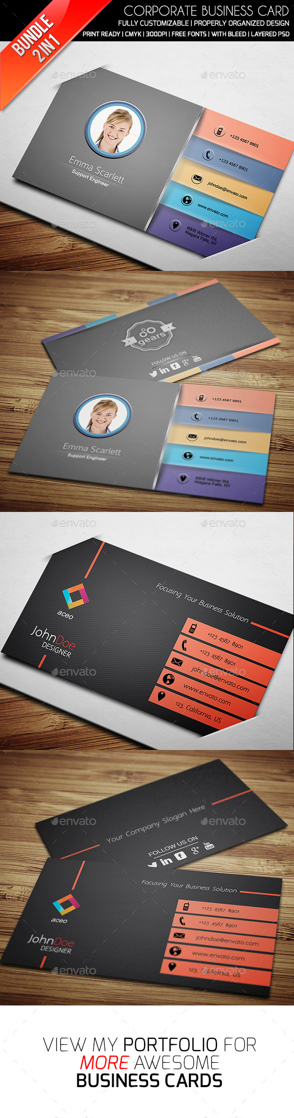 Business Card Bundle Vol 6 - Business Cards Print Templates