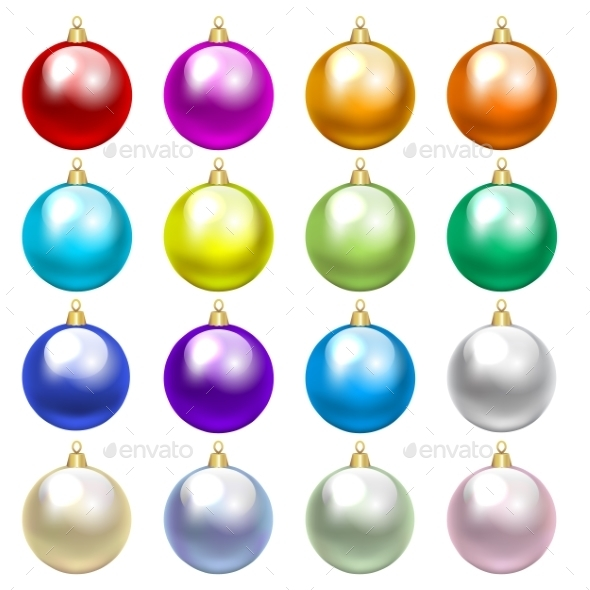Colorful Baubles - Christmas Seasons/Holidays