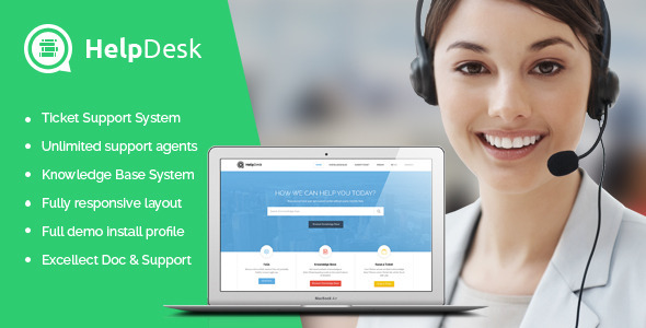 HelpDesk – Ticket Support & Knowledge Drupal Theme