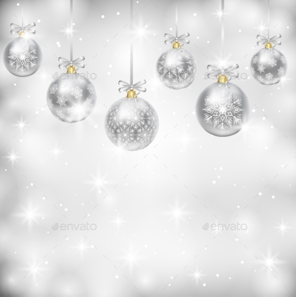 Silver Baubles - Christmas Seasons/Holidays