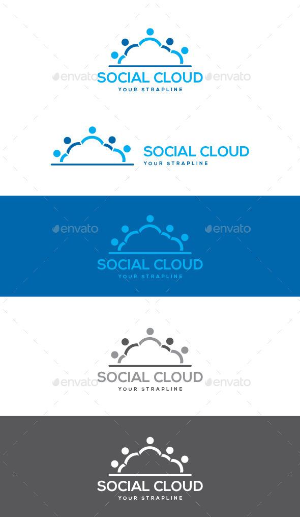 Social Cloud Logo - Symbols Logo Templates