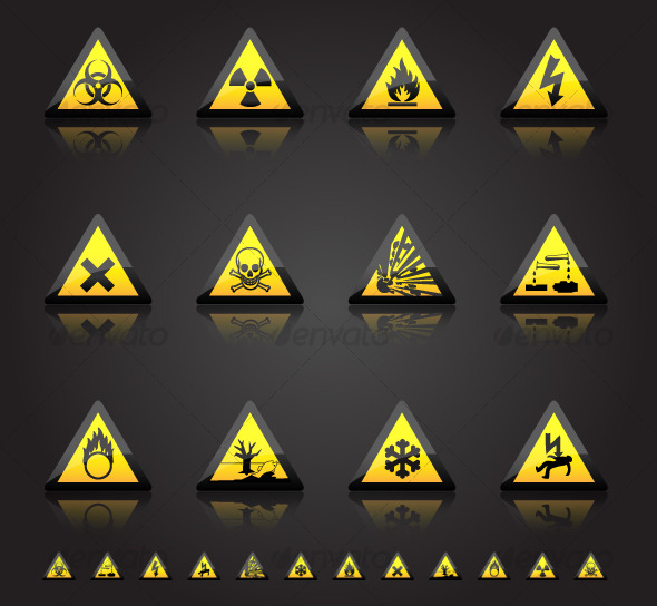 Hazard Warnings - Man-made objects Objects