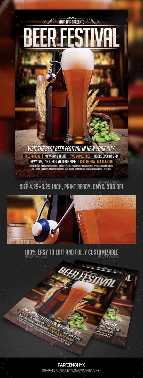 Beer Festival Flyer Template - Events Flyers