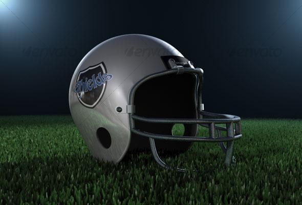 American football helmet - 3DOcean Item for Sale