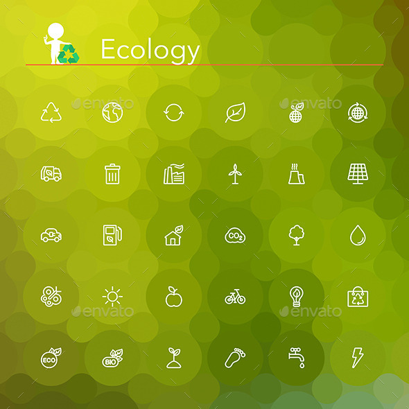 Ecology Line Icons - Miscellaneous Icons