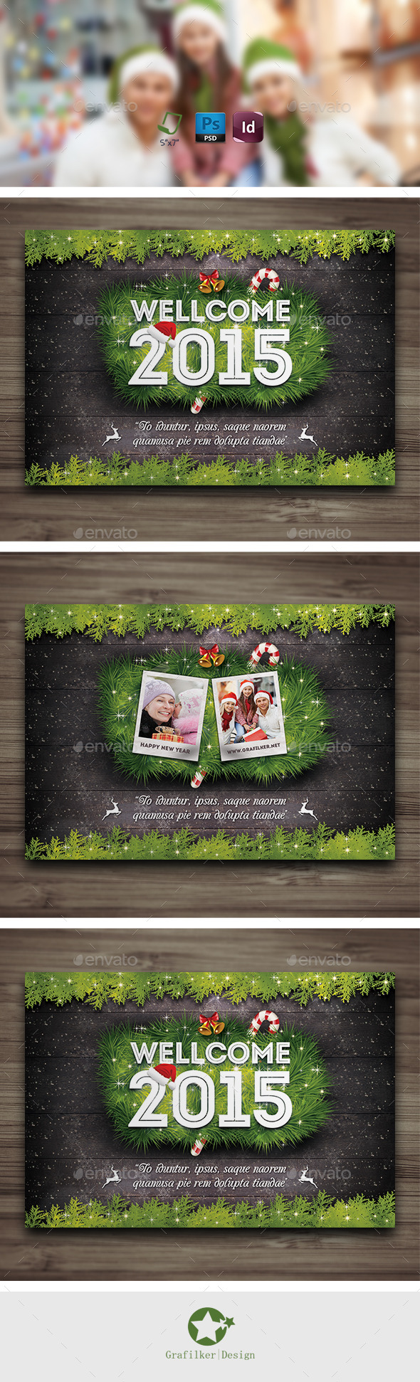 Christmas Postcard Templates - Cards & Invites Print Templates