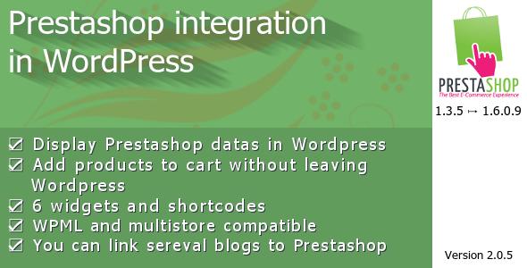 Prestashop integration in WordPress - CodeCanyon Item for Sale
