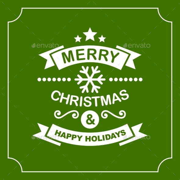 Christmas Retro Typographic Background - Christmas Seasons/Holidays
