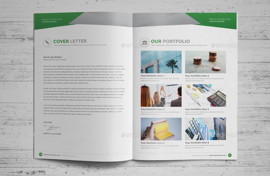Resume Booklet Design (InDesign) v2 by JanySultana   GraphicRiver