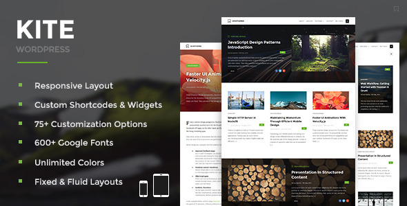 Kite - Responsive WordPress Theme