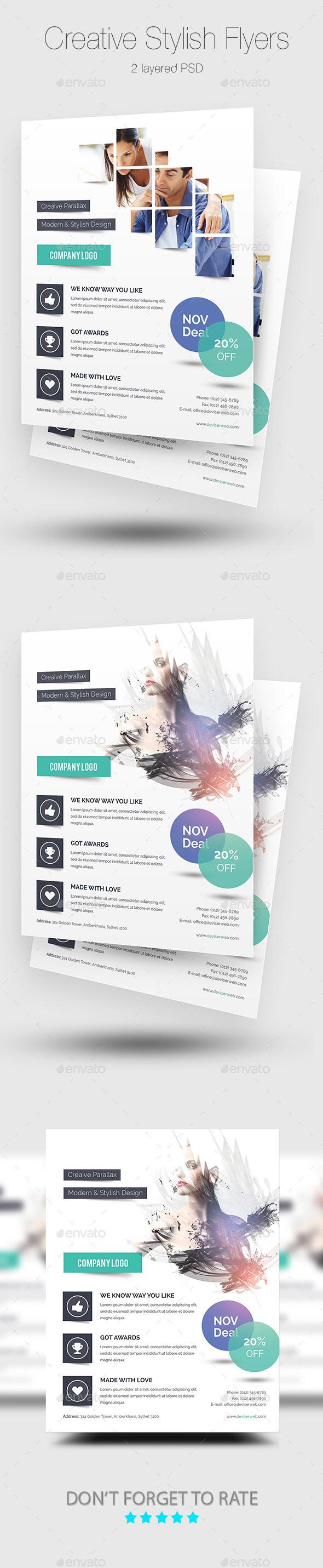 Creative Stylish Flyer Templates - Corporate Flyers