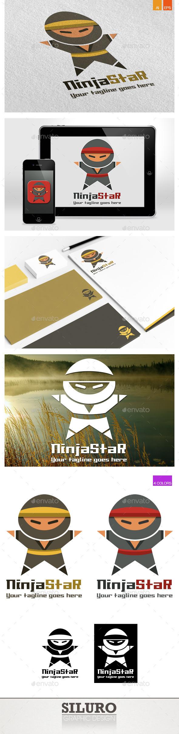Ninja Star Logo - Humans Logo Templates