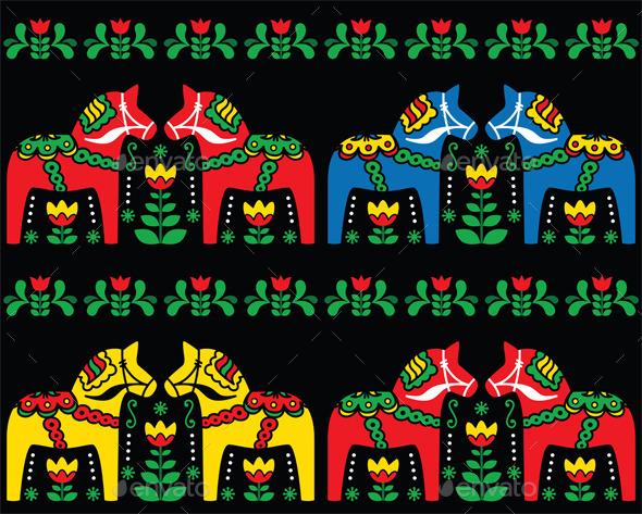 Folk Seamless Pattern - Patterns Decorative