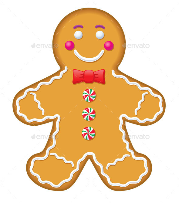 Iced Gingerbread Man Cookie - Christmas Seasons/Holidays
