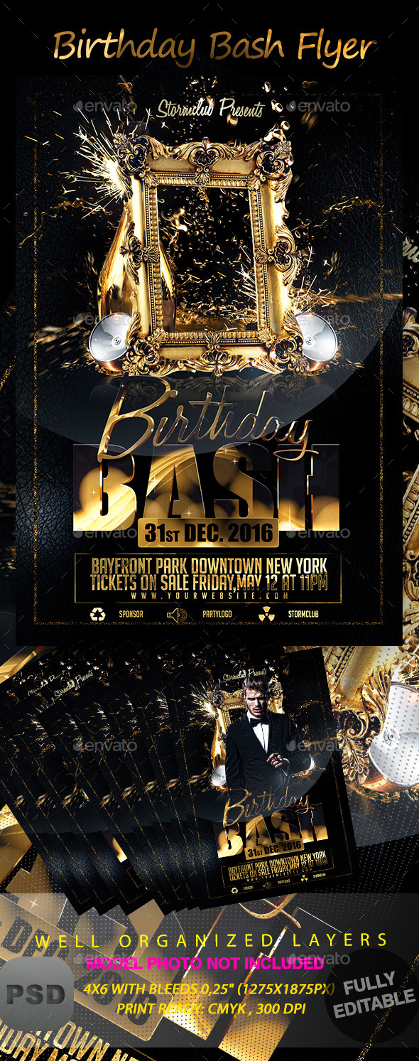 Birthday Bash Flyer - Events Flyers