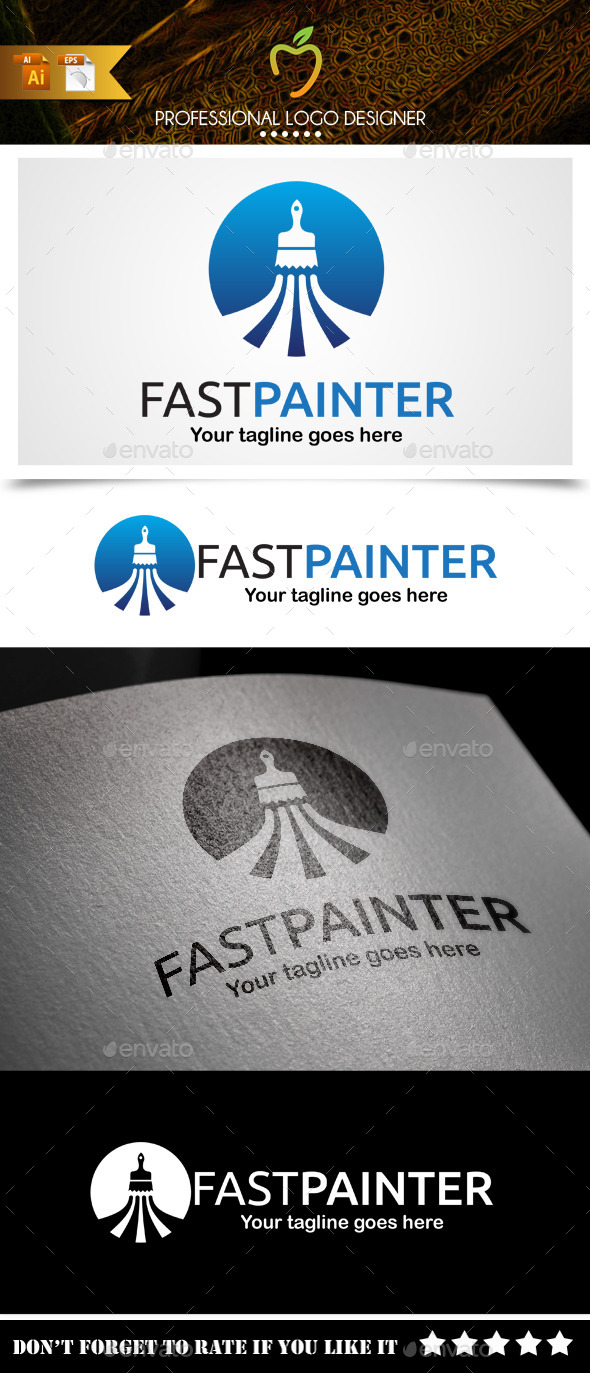 Fast Painter Logo - Symbols Logo Templates