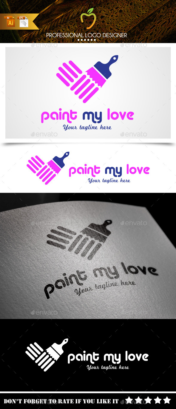 Paint My Love Logo - Symbols Logo Templates
