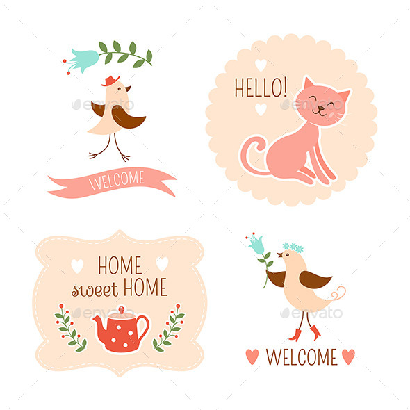 Welcome Home Decorative Elements - Miscellaneous Characters