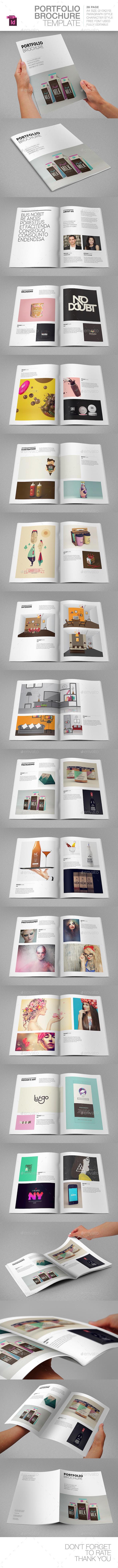 Portfolio Brochure Template - Brochures Print Templates