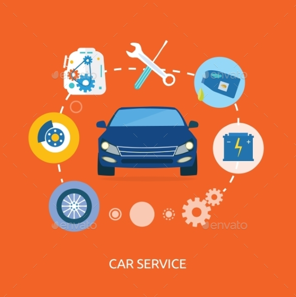 Auto Mechanic Service - Conceptual Vectors
