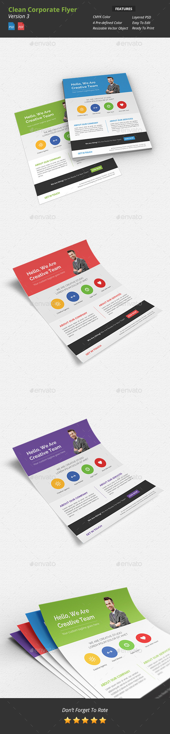Clean Corporate Flyer v3 - Corporate Flyers