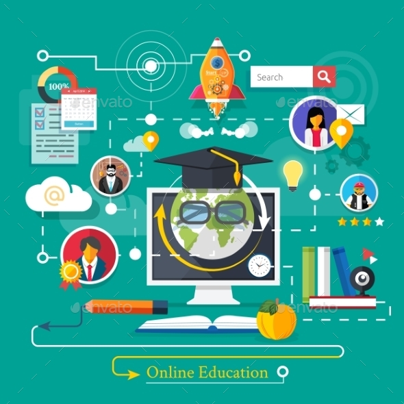 Online Professional Education - Conceptual Vectors