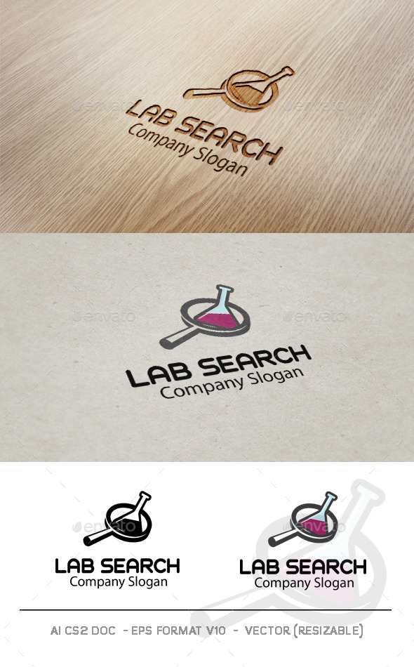 Lab Search logo - Objects Logo Templates