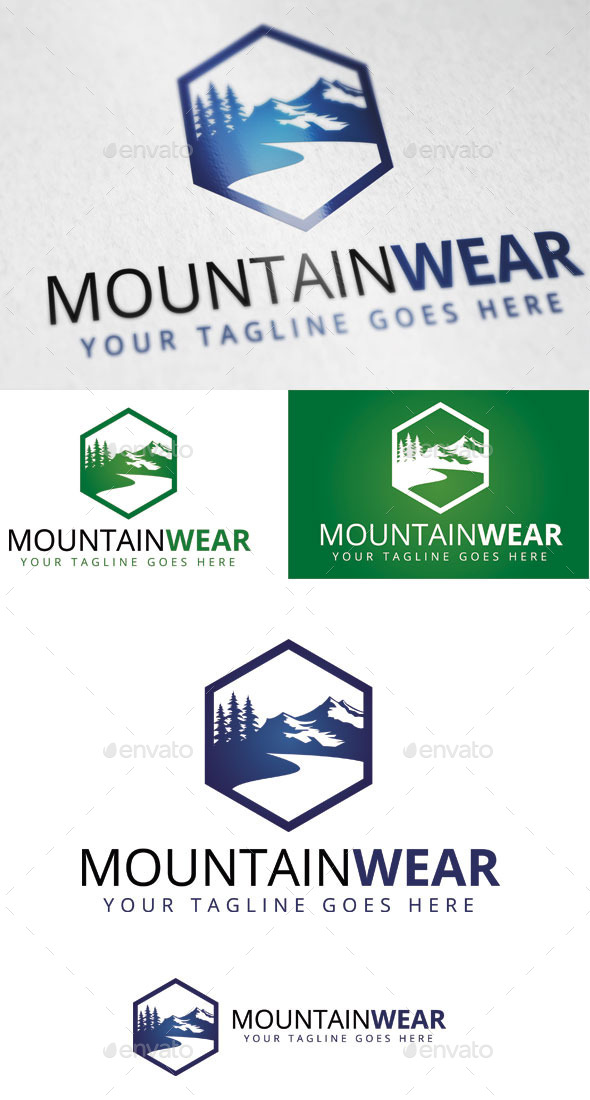 Mountain Wear Logo Template - Nature Logo Templates