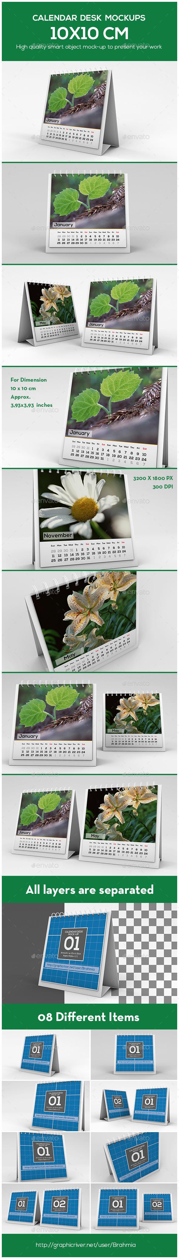Calendar Desk Mockup - Miscellaneous Print