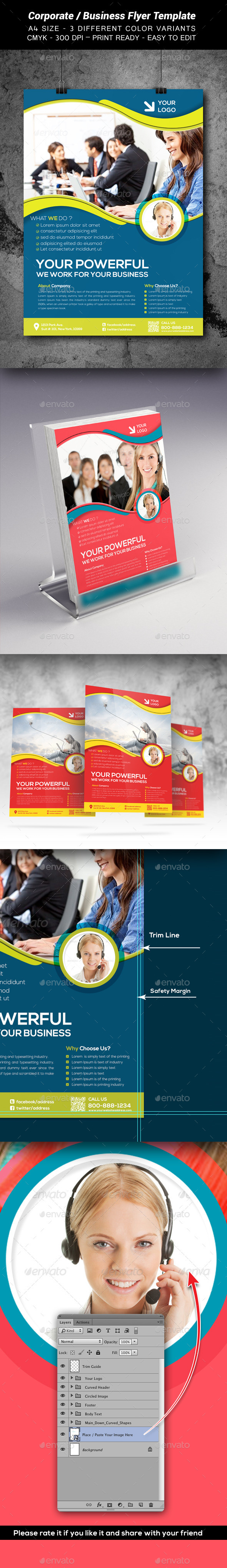 Corporate / Business Flyer Template3 - Print Templates